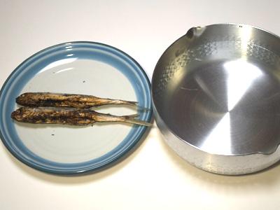 1.分量 水1000cc 焼きアゴ 2尾(30g)